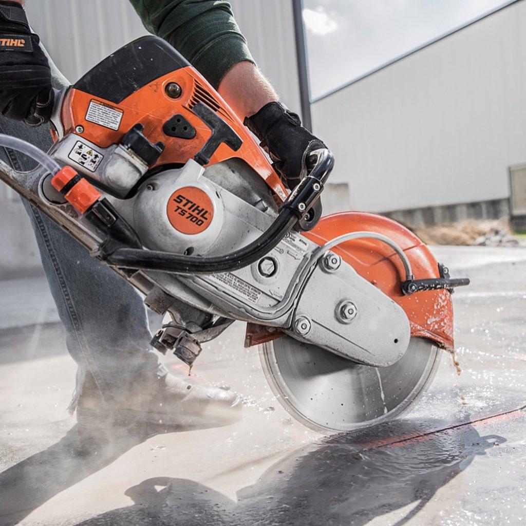 NJC Concrete Saw action